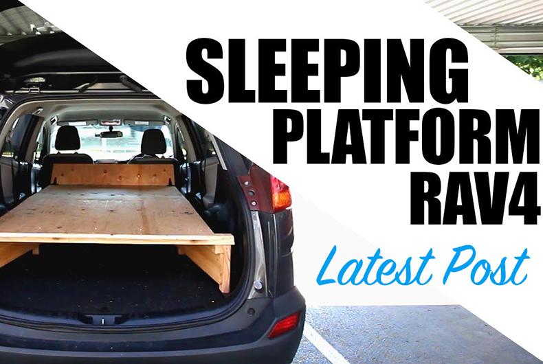 2013 Toyota RAV4 LE Sleeping Platform